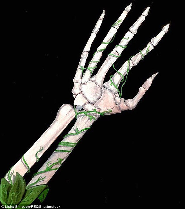 رسومات خيالية على اليد