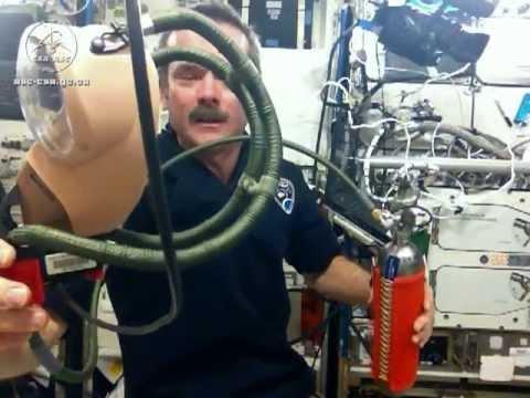 رواد الفضاء عند حدوث حريق