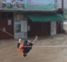 عملية إنقاذ لرجل صيني