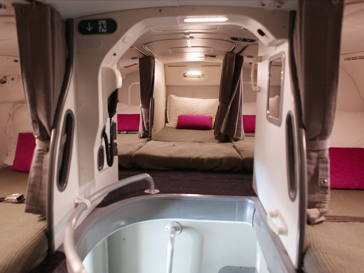 secret airplane bedroom