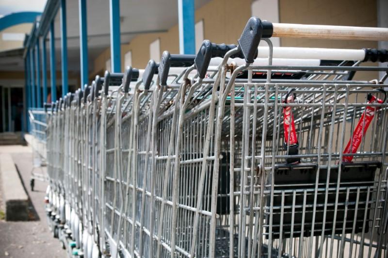 الحامل الصغير في عربات التسوق