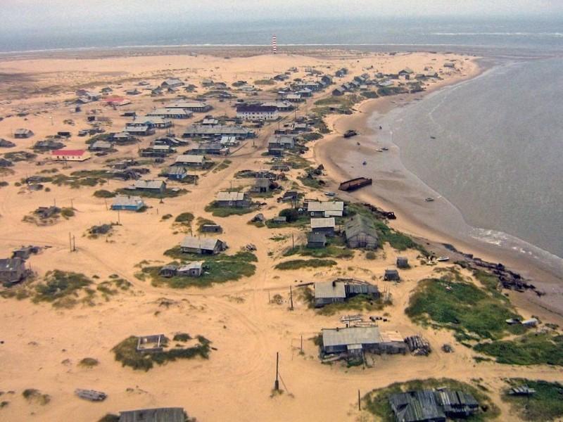 القرية الروسية تحت الرمال