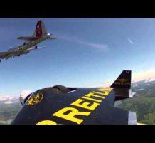 مغامر سويسري يطير ببذلة