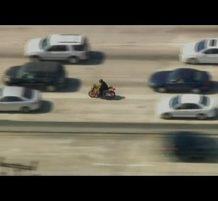 مطاردة الشرطة لسائق دراجة