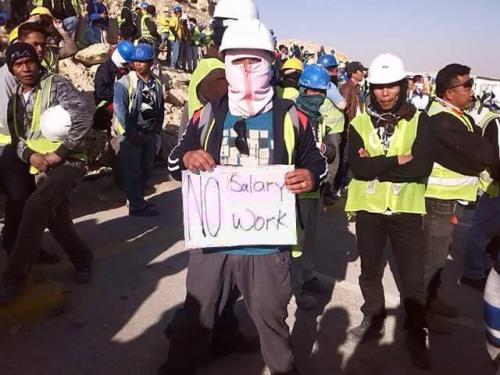 إضراب العمال الأجانب