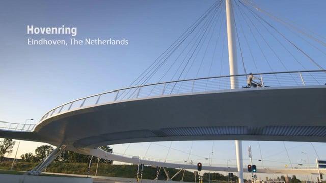أول جسر لراكبي الدراجات