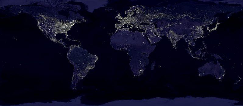 العالم من الأقمار الصناعية