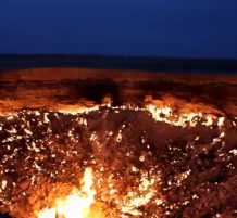 حفرة مشتعلة منذ 40 عاماً