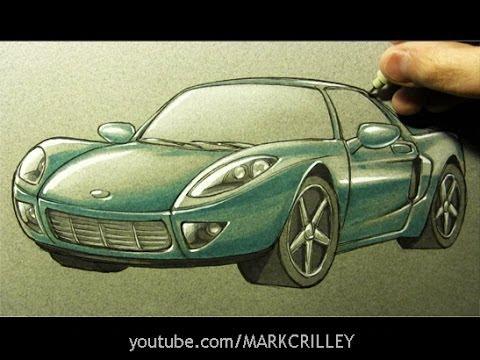رسم سيارة بشكل متقن