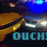 سيارة شرطة تصطدم بسيارة فيراري