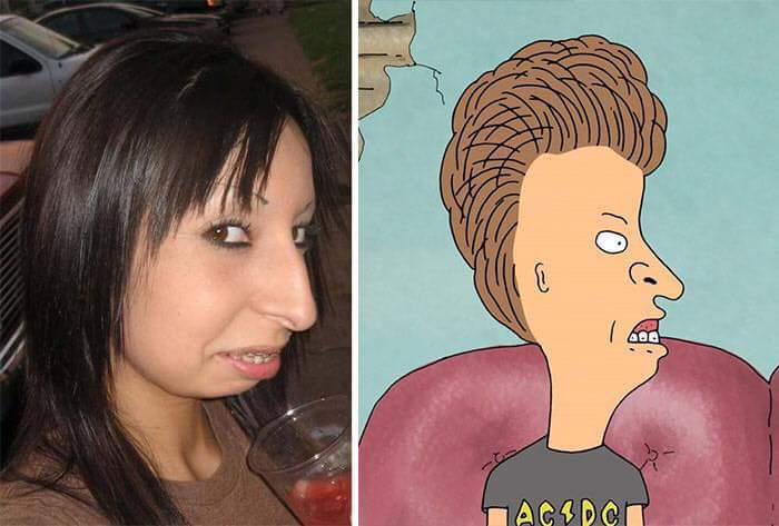 أشخاص يشبهون شخصيات الكرتون