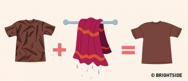 كوي الملابس بدون استخدام المكواة