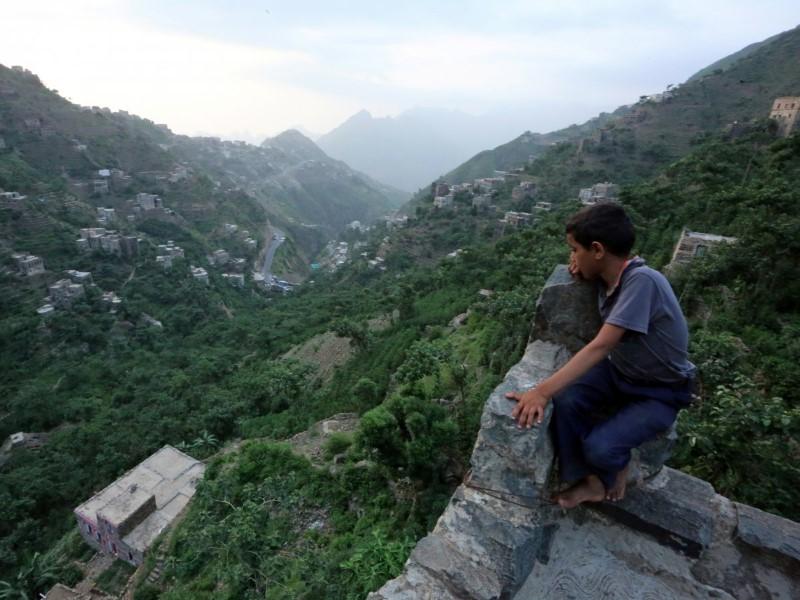 القرى في جبال اليمن