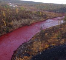 river turns red