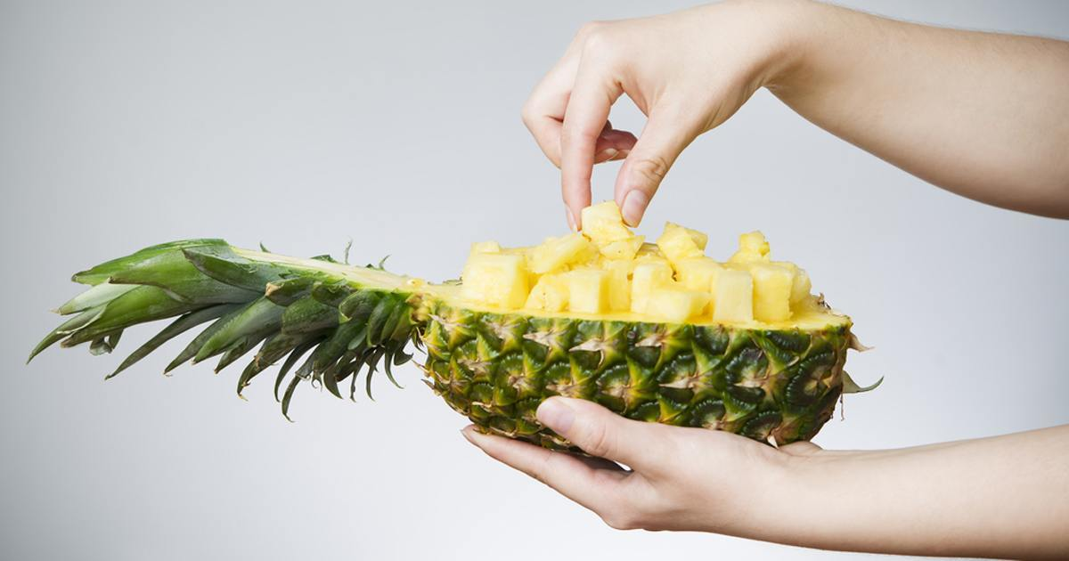 adding salt to pineapples