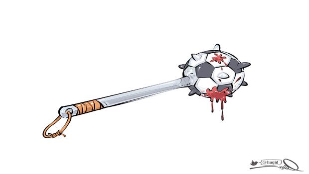 كاريكاتير هاجد عن التعصب الكروي