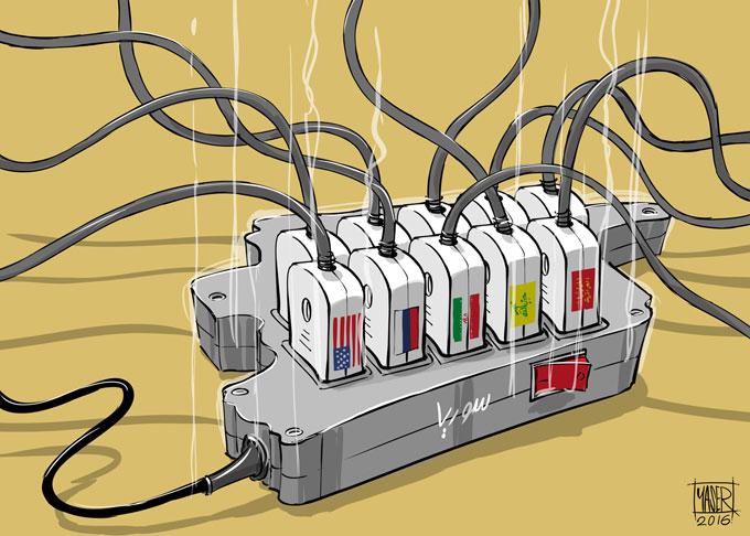 كاريكاتير ياسر أحمد عن سوريا