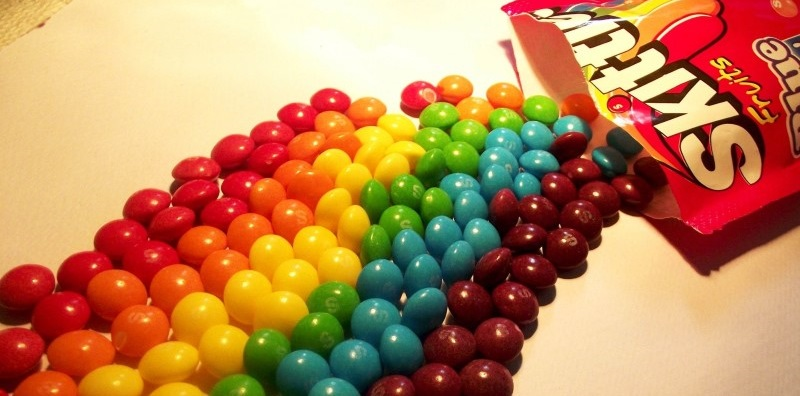 Skittles In Water