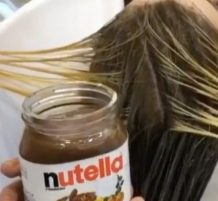 Hair-Stylist Uses Nutella