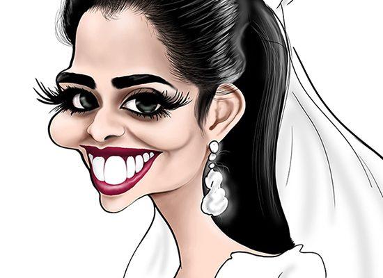 كاريكاتير بلقيس بعد الزواج مع أوباما