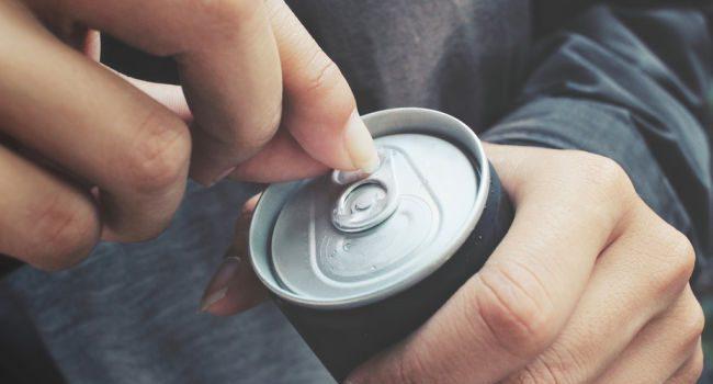 علبة المشروبات الغازية