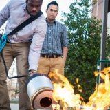 Sonic fire extinguishers