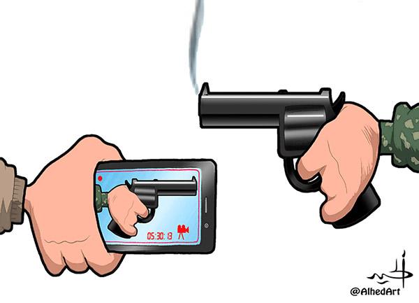 كاركاتير أسلحة - هاني الحيد