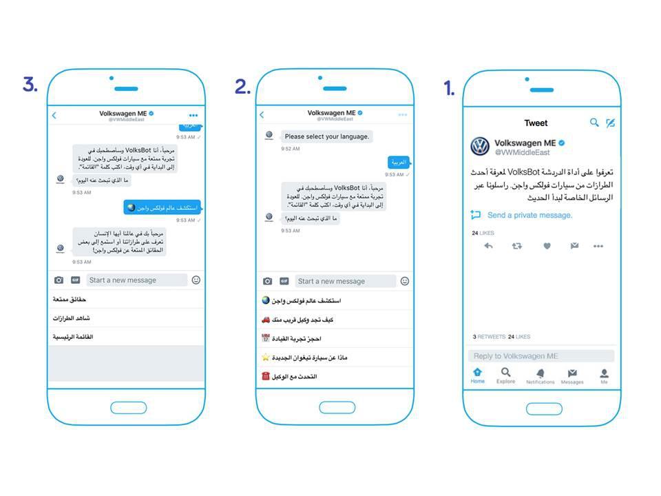 خدمة العملاء من فولكس واجن عبر تويتر