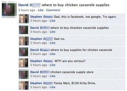 أب يبحث باستخدام الفيس بوك