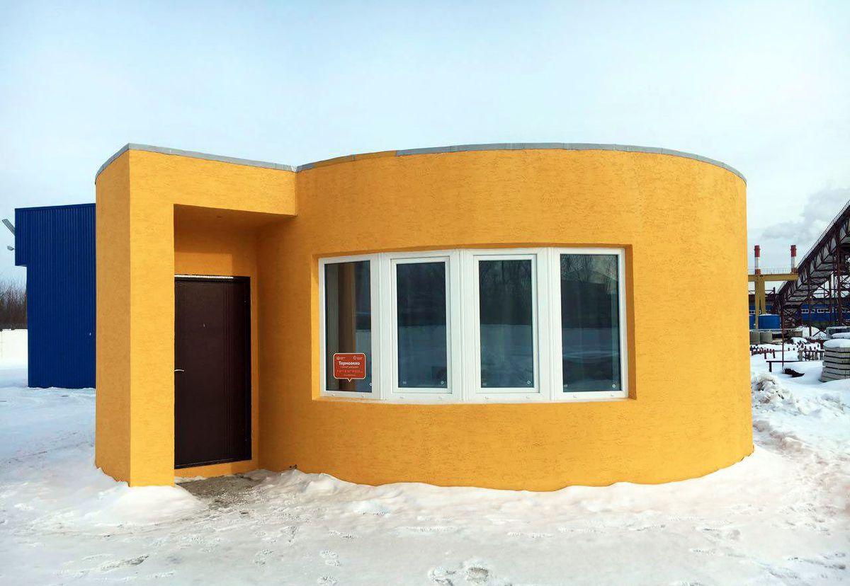 بيت يُبنى بطابعة ثلاثية الأبعاد