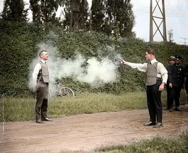 اختبار سترة ضد الرصاص
