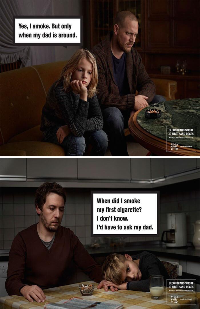 التدخين السلبي يعني الموت المباشر