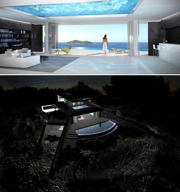 حمامات السباحة ذات الأرضيات