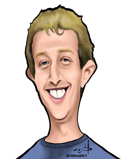 كاريكاتير مارك زوكربيرج