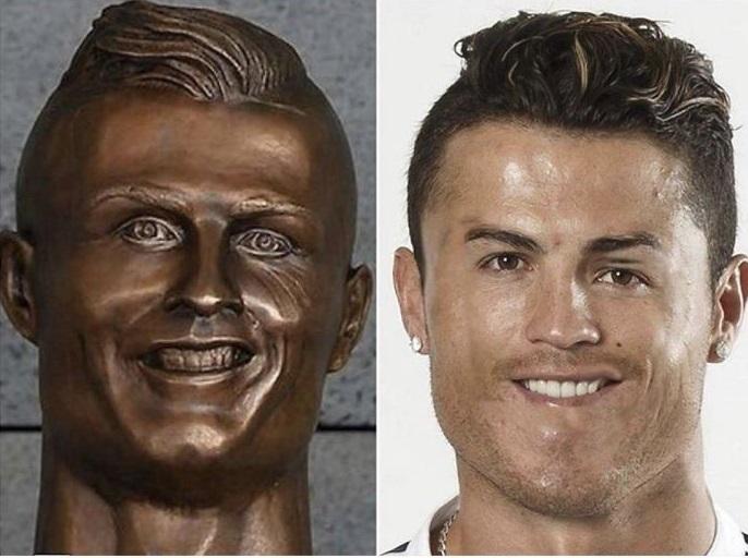 تمثال رونالدو المضحك