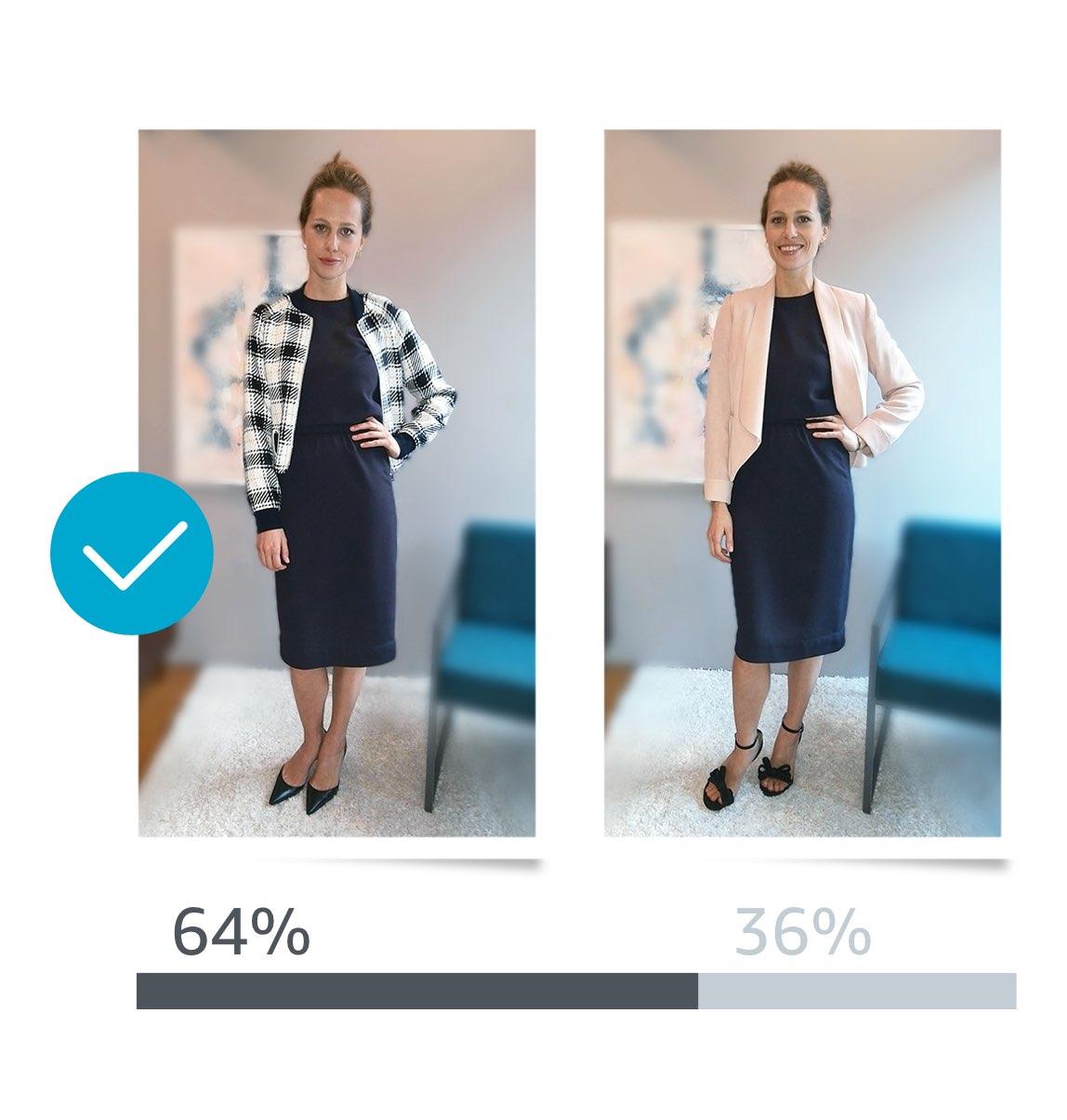 كاميرا سيلفي اختيار ملابسك