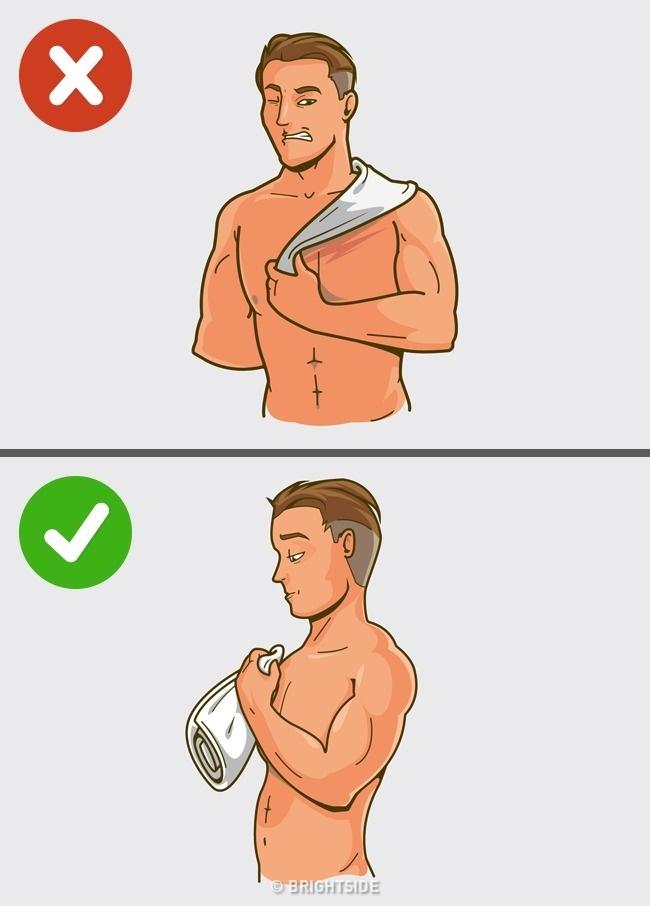قواعد للاستحمام الصحيح