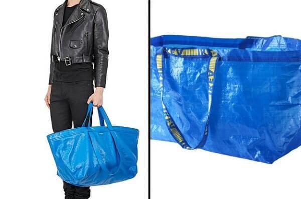 حقيبة تشبه أكياس إيكيا الزرقاء تباع بأكثر من 2000$ !