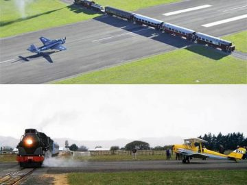 train that crosses an airport runway