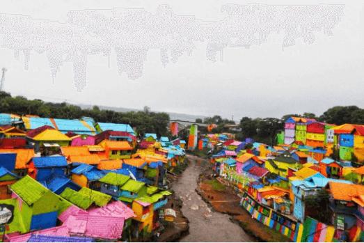 المباني الملونة