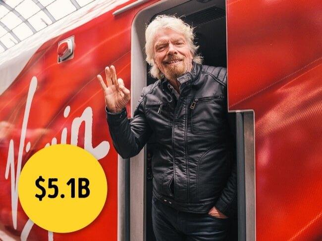 ريتشارد برانسون من أشهر الأغنياء