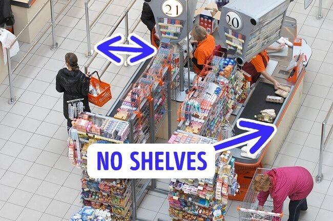 ممرات خروج ضيقة من الحيل التي تستخدمها المتاجر كي نشتري اشياء لم نكن بالأساس نحتاجها