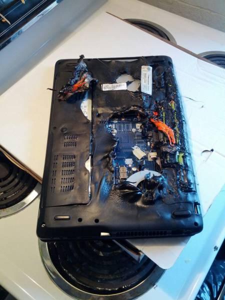 تدمير أجهزة تكنولوجية