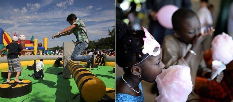 صور حول العالم: مظاهر احتفال مسلمي أمريكا بعيد الفطر السعيد..