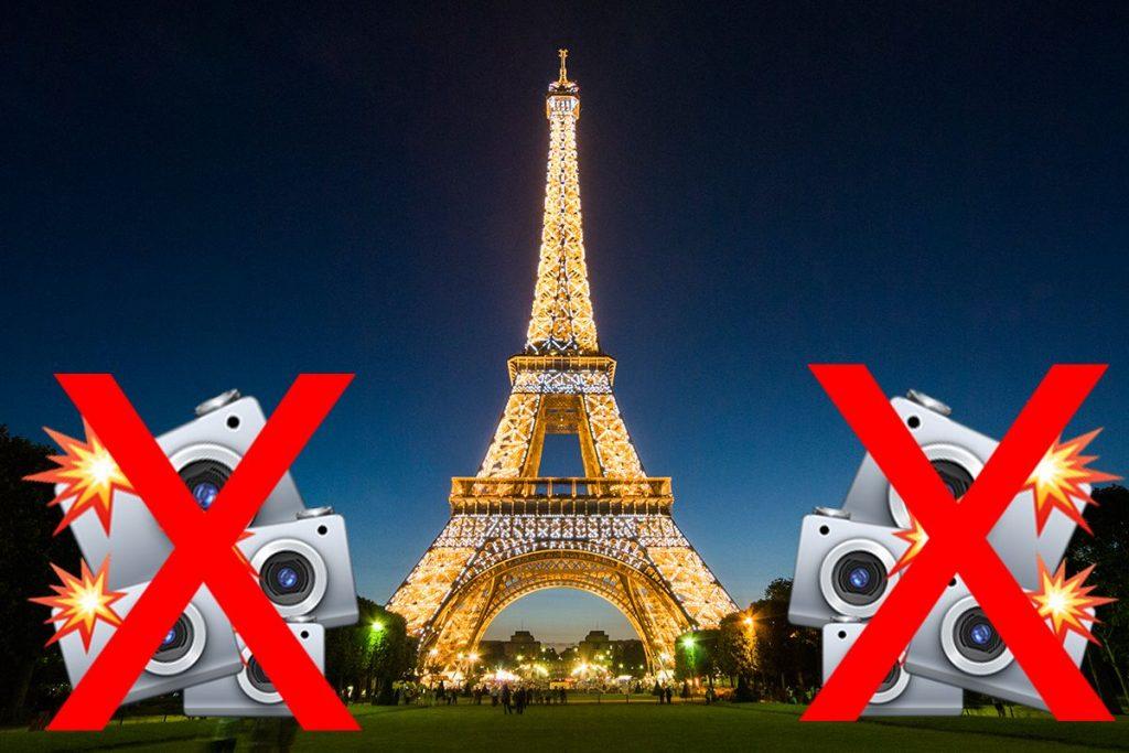 لماذا يُمنع تصوير برج إيفل ليلاً؟