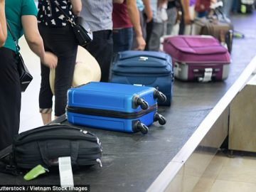 luggage carousel at the airport