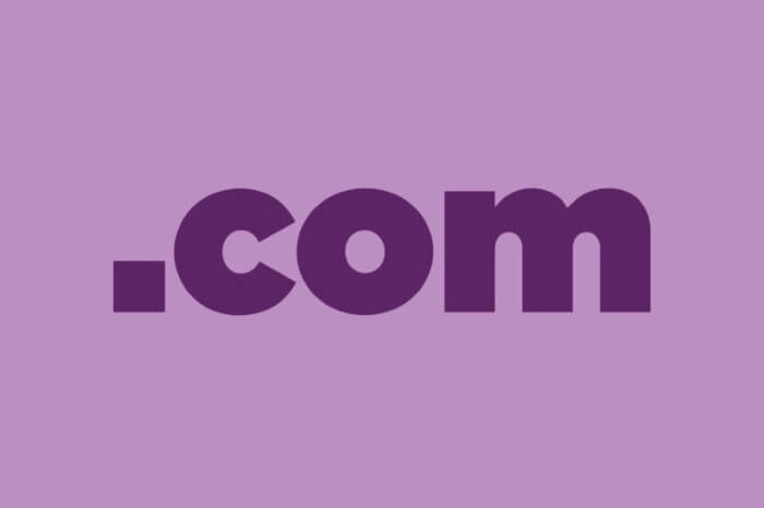 علامة .com