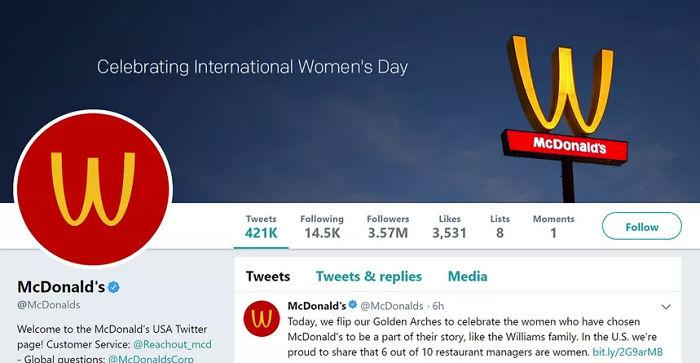 النُسخ النسائيّة من الشعارات العالميّة