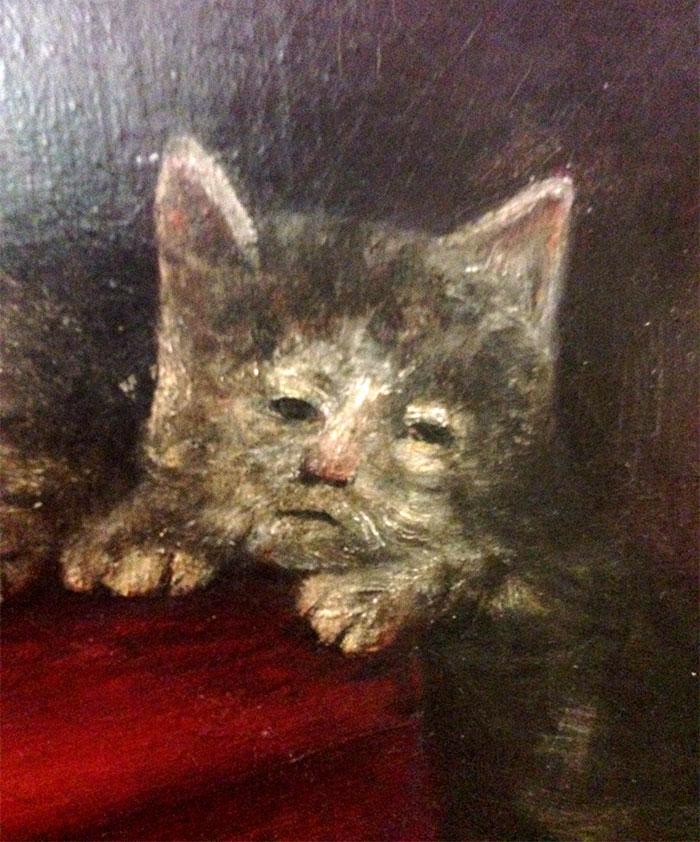 القطط في لوحات العصور الوسطى