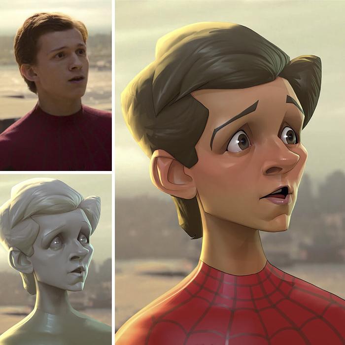 رسم أبطال أفلام